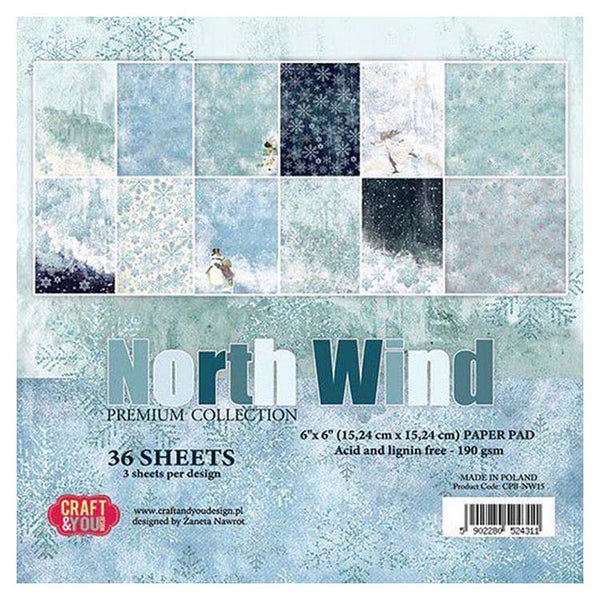 Craft & You Design North Wind 6x6 Paper Pad