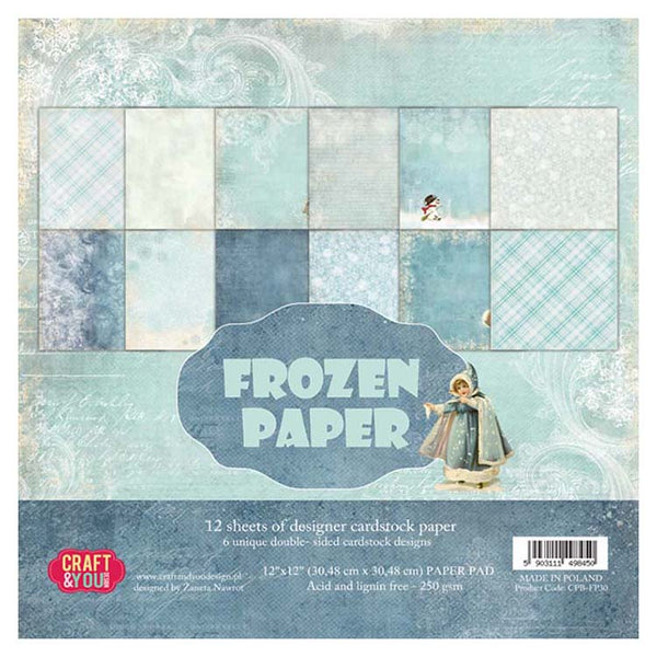 Craft & You Design Frozen Paper 12x12 Paper Set