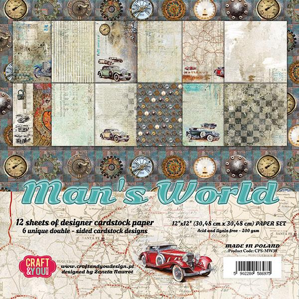 Man's World 12x12 Paper Pad