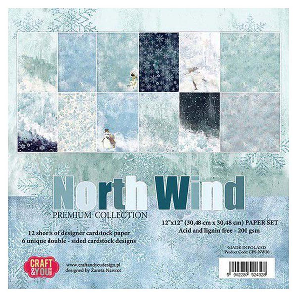 Craft & You Design North Wind 12x12 Paper Set