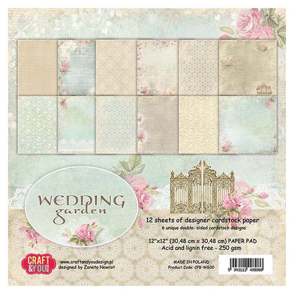 Craft & You Design Wedding Garden 12x12 Paper Set