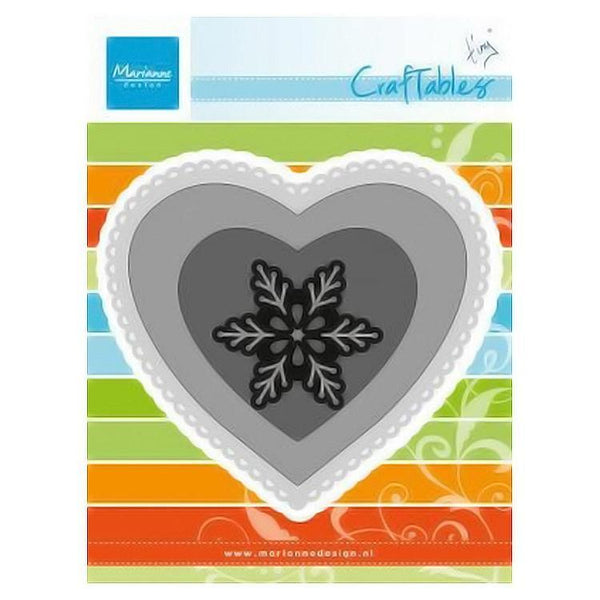 Marianne Design: Craftables Dies - Hearts (Set of 3)+ Snowflake
