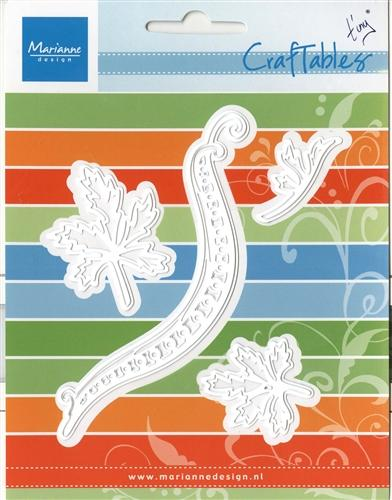 Marianne Design: Craftables Dies - Tiny's Swirl & Leaves 1