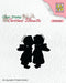 Clear Stamp Silhouette Two Kissing Angels