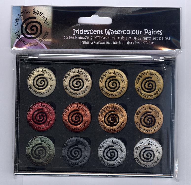 Cosmic Shimmer Iridescent Watercolour Pallet set  - Metallics