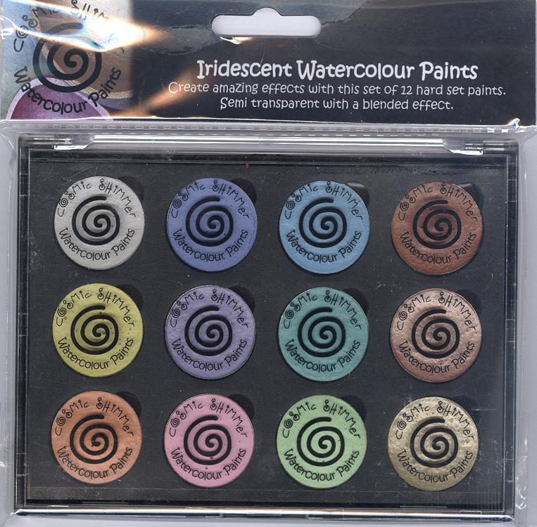 Cosmic Shimmer Iridescent Watercolour Pallet set  - Perfect Pastels