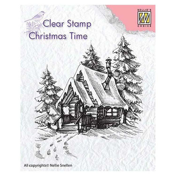Nellie's Choice Clear Stamp Snowy House 2