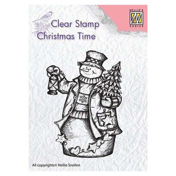 Nellie's Choice Clear Stamp Snowman with Lantern