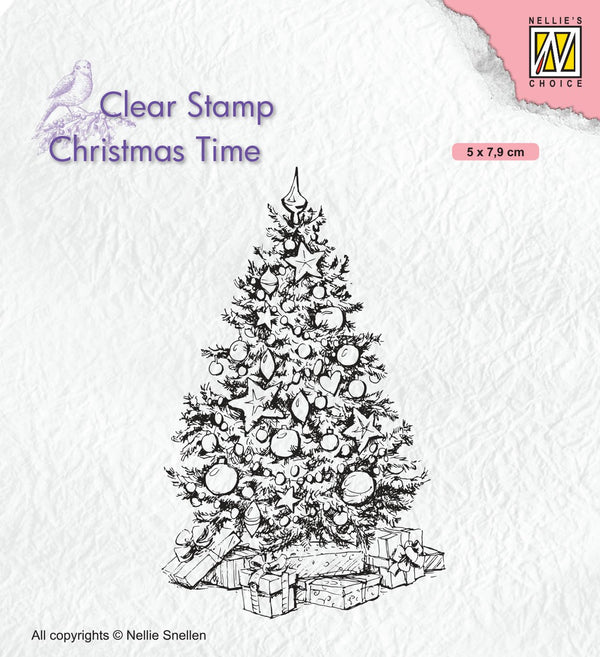 Christmas Time Clear Stamp Christmas Tree