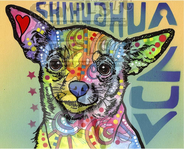 Chichuahua Luv Rubber Stamp Dean Russo