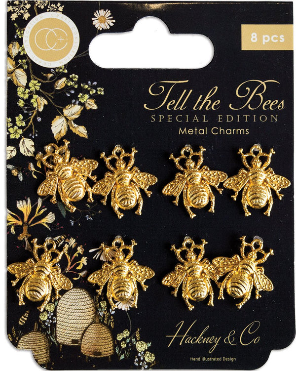 Tell the Bees - Special Edition - Metal Charms - Gold Bees