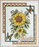 Designer Boutique Collection Dazzling Sunflower A5 Clear Stamp Set