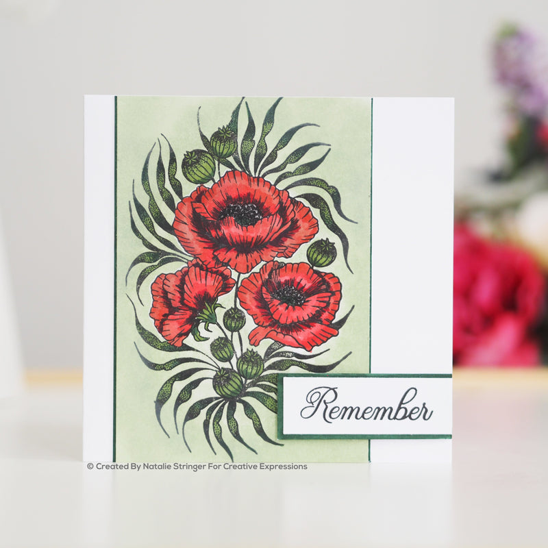 Designer Boutique Collection Remember A5 Clear Stamp Set