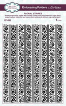 Creative Expressions Embossing Folder - Floral Stripes 5 3/4 x 7 1/2