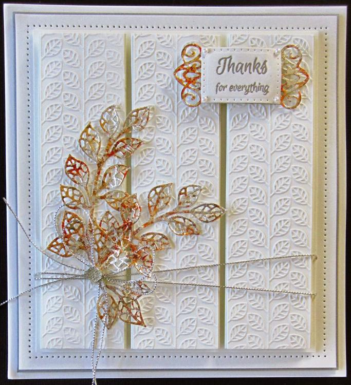 Creative Expressions Embossing Folder - Linear Leaves 5 3/4 x 7 1/2