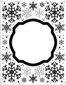 Embossing Folder 5 3/4 x 7 1/2 Eve's Snowflakes