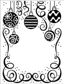Embossing Folder 5 3/4 x 7 1/3 Bauble Celebration