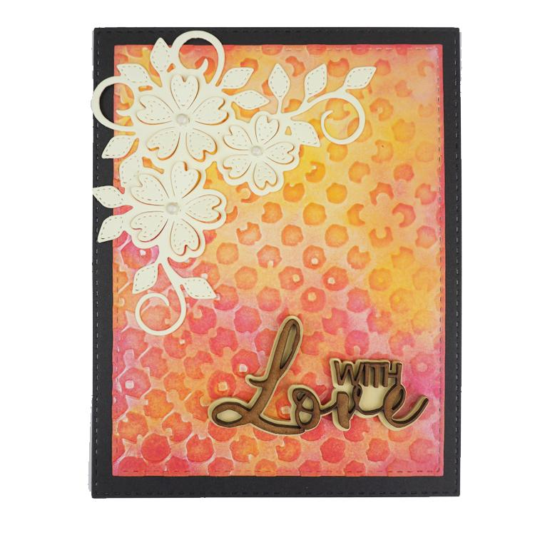 Creative Expressions 5 x 7 Embossing Folder Altered Hexagons