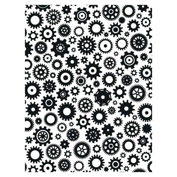 Creative Expressions Embossing Folder  5 3/4 x 7 1/2 Cogs & Gears