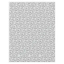 Creative Expressions Embossing Folder  3D  5 3/4 x 7 1/2 Ribbon Swirls