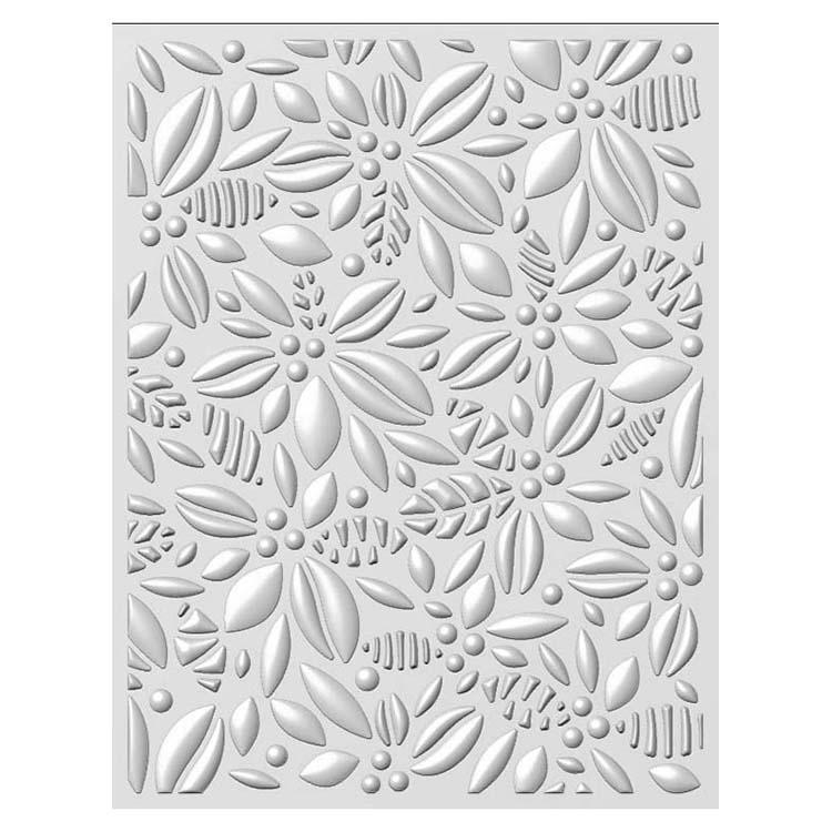 Creative Expressions Embossing Folder 3D 5 3/4 x 7 1/2 Retro Poinsettia