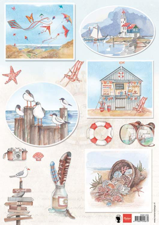 Marianne Design Cutting Sheet Els Seabreeze 2