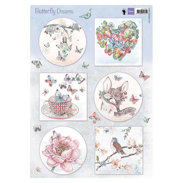 Marianne Design Cutting Sheet Butterfly Dreams