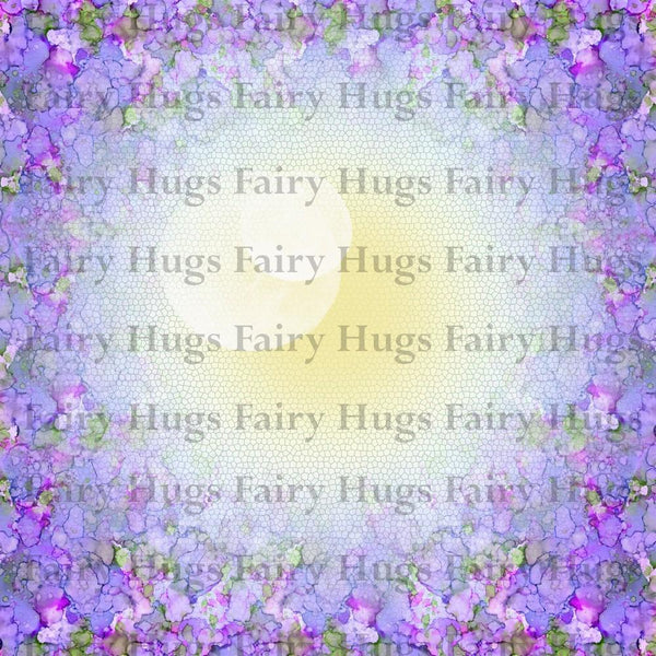 "Fairy Hugs - Backgrounds - 6"" x 6"" - Lavendar Dilly"