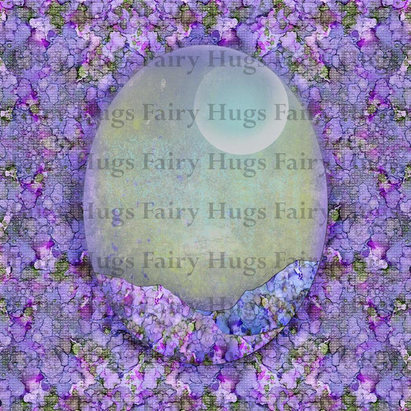 "Fairy Hugs - Backgrounds - 6"" x 6"" - Purple Fairy"