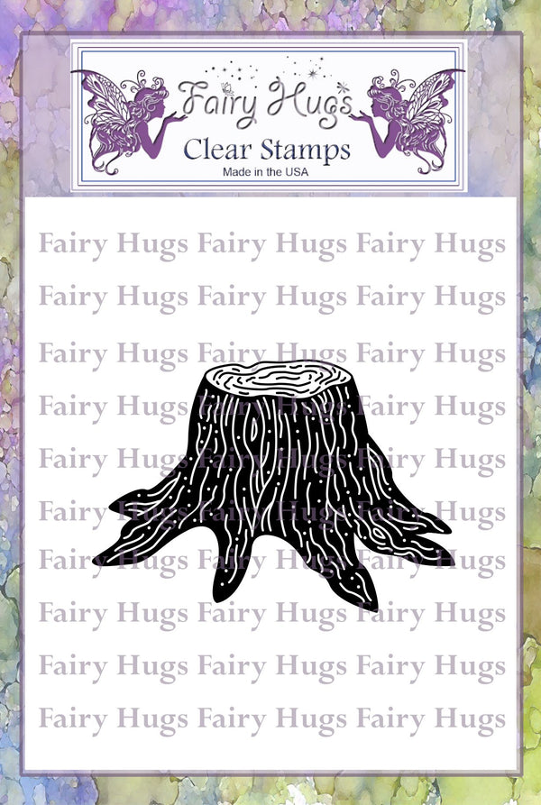 Fairy Hugs Stamps - Tree Stump