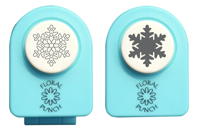 Floral punch small set - snowflake