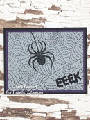 Frantic Stamper Precision Die - Spider Web Stitched Background