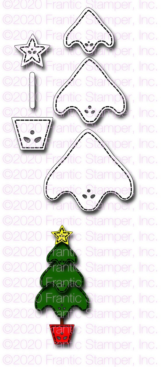 Frantic Stamper Precision Die - Country Christmas Tree