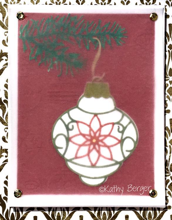 Frantic Stamper Precision Die - Poinsettia Bubble Ornament
