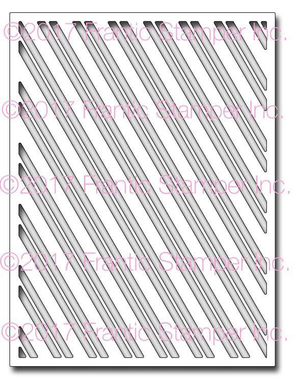 Frantic Stamper Precision Die - Diagonal Striped Panel
