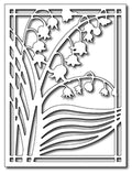 Frantic Stamper Precision Die - Lily of the Valley Card Panel