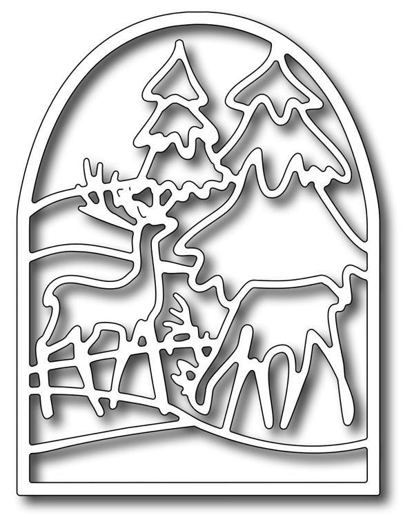 Frantic Stamper Precision Die - Deer Stained Glass