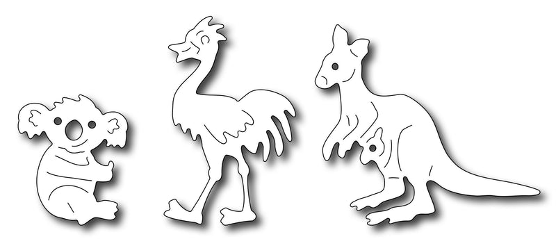 Frantic Stamper Precision Die - Noah's Australian Animals (set of 3 dies)