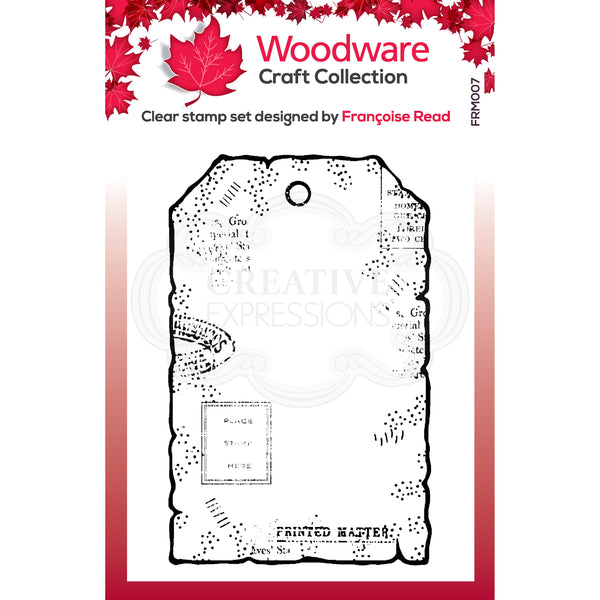 Woodware Clear Singles Tiny Tag