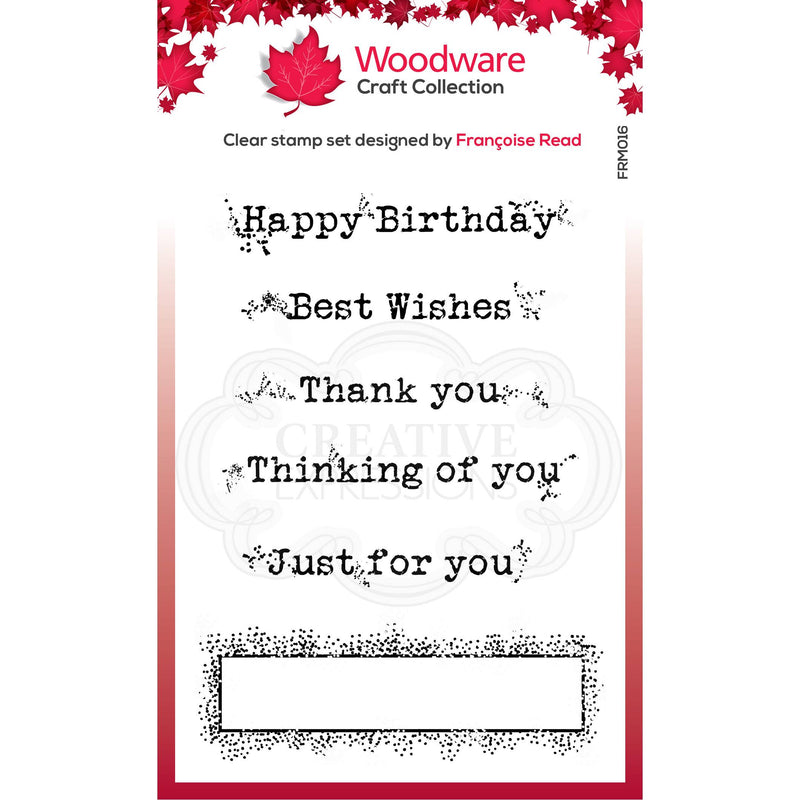 Woodware Clear Singles Boxed Greetings