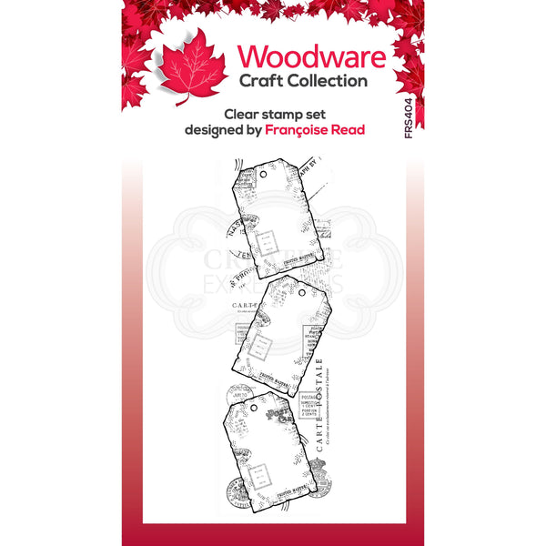 Woodware Clear Singles Three Tags 8 in x 2.6 in stamp