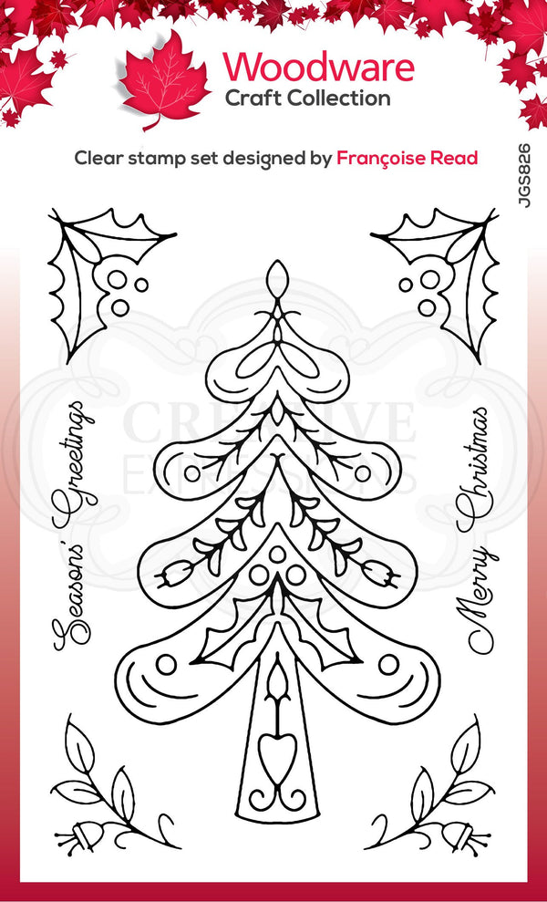 Nordic Tree 4 in x 6 in Stamp