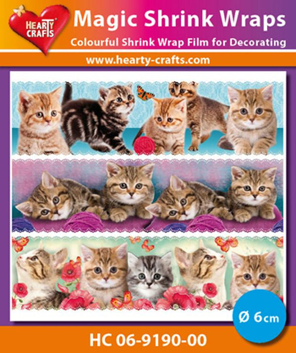 Hearty Crafts Magic Shrink Wraps. Cats (6cm)