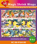 Hearty Crafts Magic Shrink Wraps. Birds Branch  (8cm)