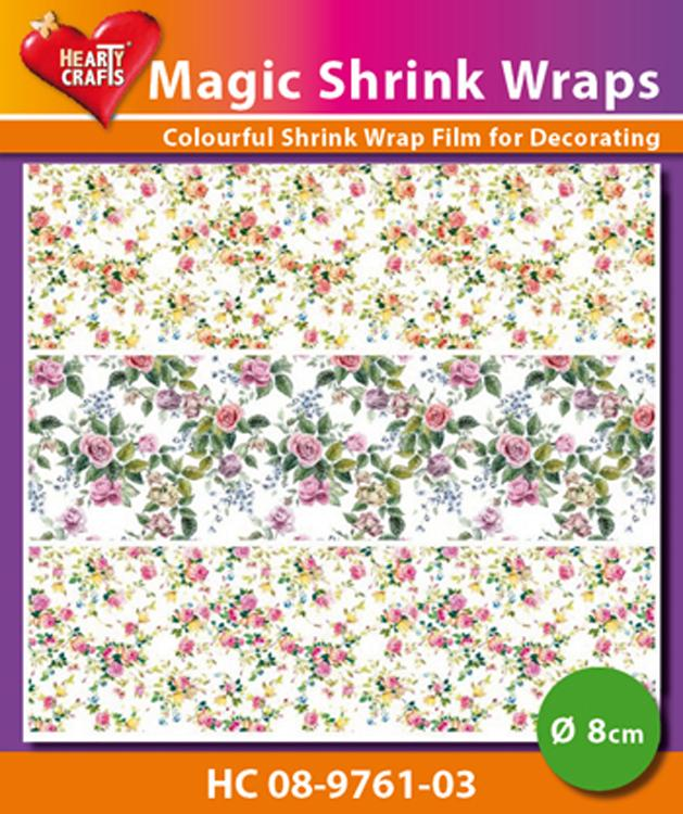 Hearty Crafts Magic Shrink Wraps. Mini-Roses  (8cm)