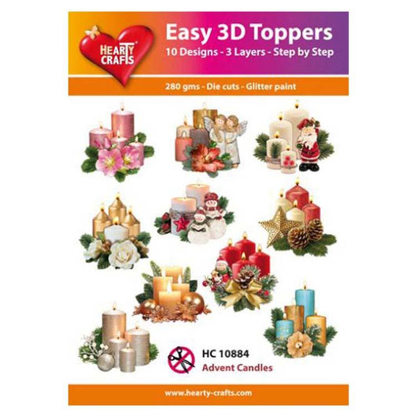 Hearty Crafts Easy 3D Toppers Advent Candles