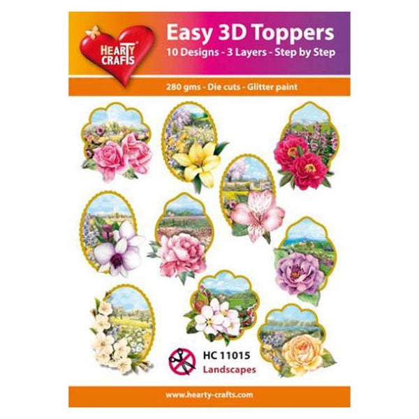 Hearty Crafts Easy 3D Toppers Landscapes