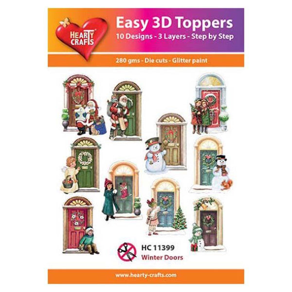 Hearty Crafts Easy 3D Toppers  - Winter Doors