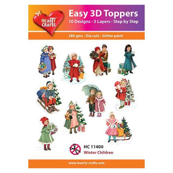 Hearty Crafts Easy 3D Toppers  - Winter Children