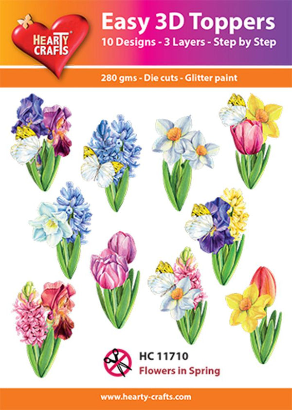 Hearty Crafts Easy 3D Toppers - Flowers in Spring